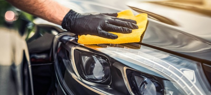 Car wash recommendation for freshly painted vehicles